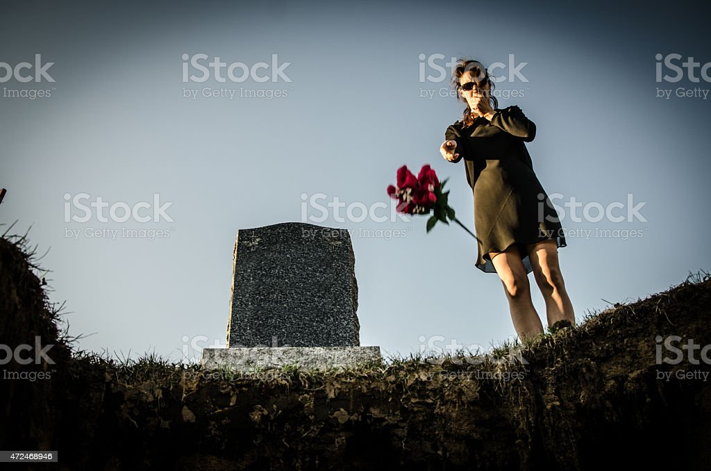 Last goodbye stock photo
