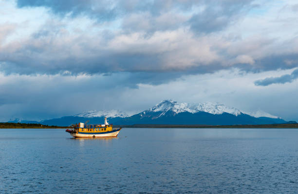 Last Hope Sound in Puerto Natales, Chile stock photo