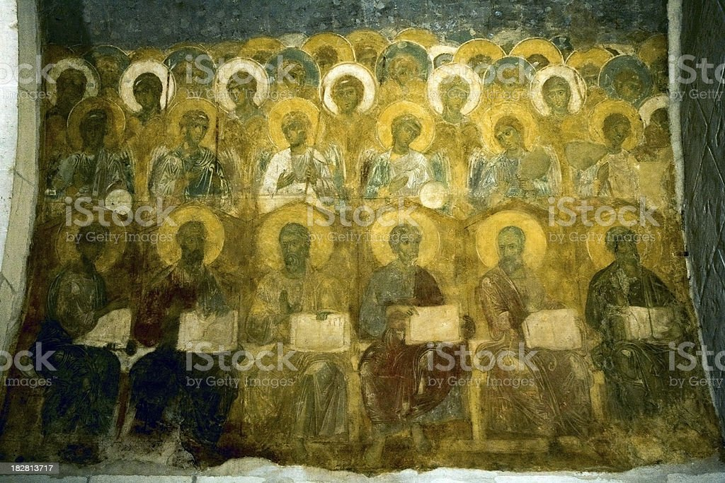 Last Judgement. Southern wall royalty-free stock photo