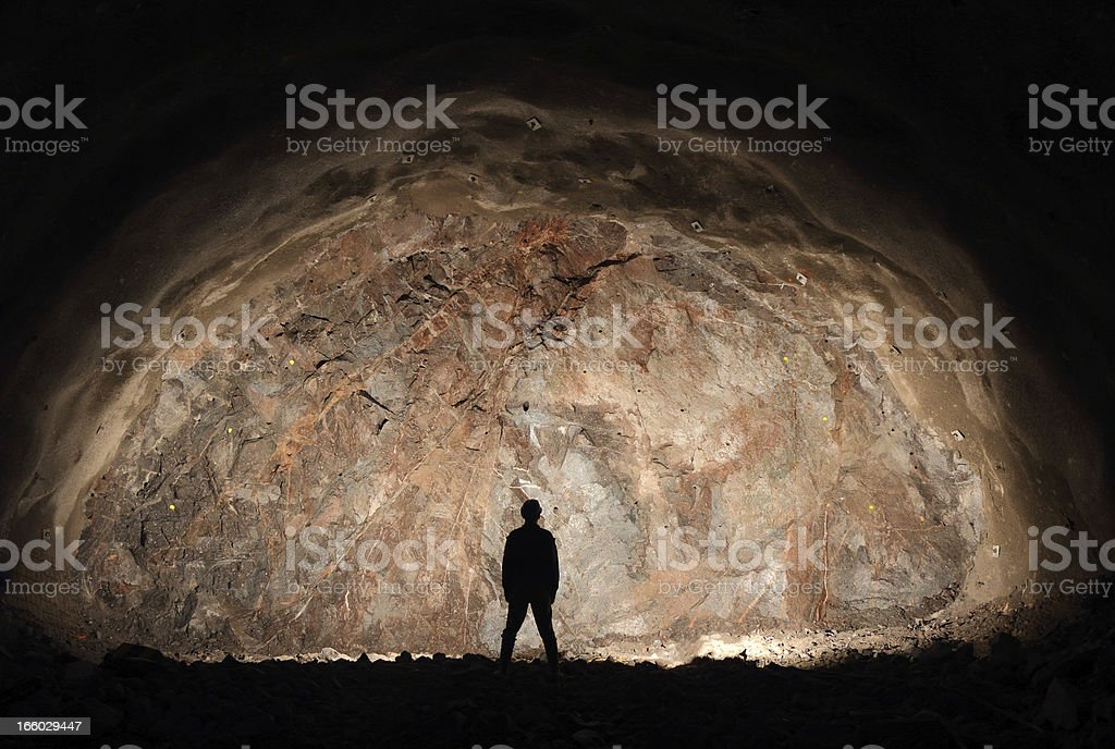 Last man/miner standing stock photo