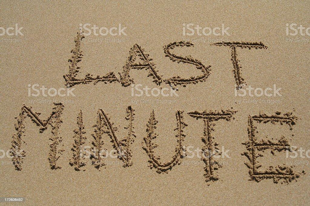 Last minute beach holiday royalty-free stock photo