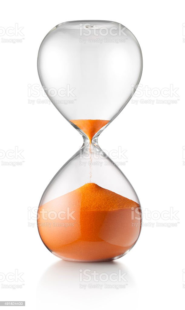 Last minute. Hourglass. stock photo