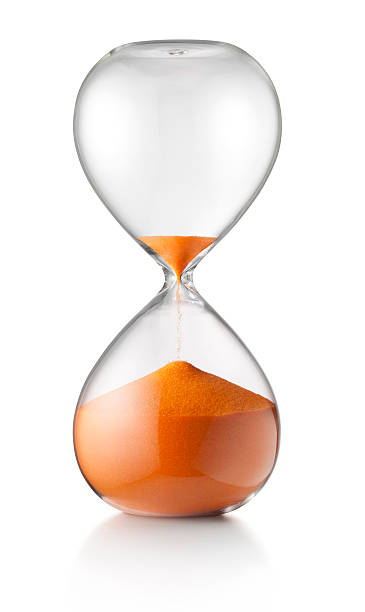 Last minute. Hourglass. Hourglass. Concept image. Photo with clipping path. timer stock pictures, royalty-free photos & images