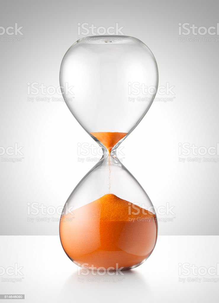 Last minute. Hourglass. stock photo