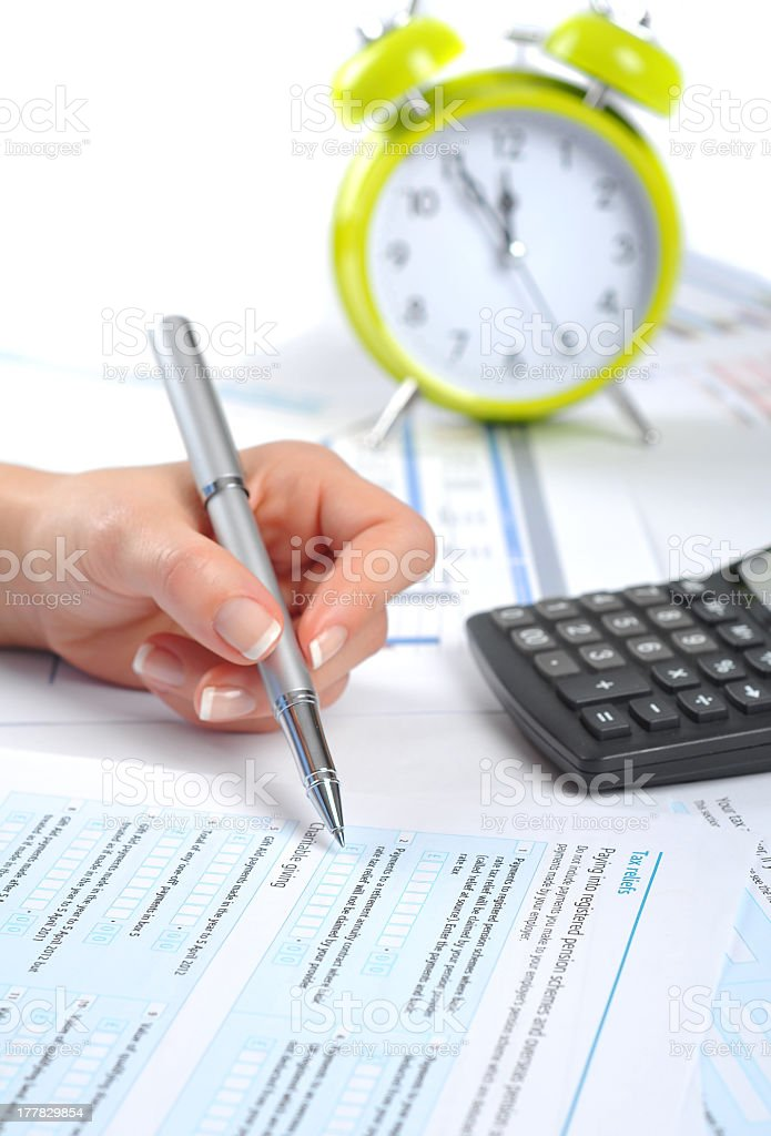 Last minute in business royalty-free stock photo
