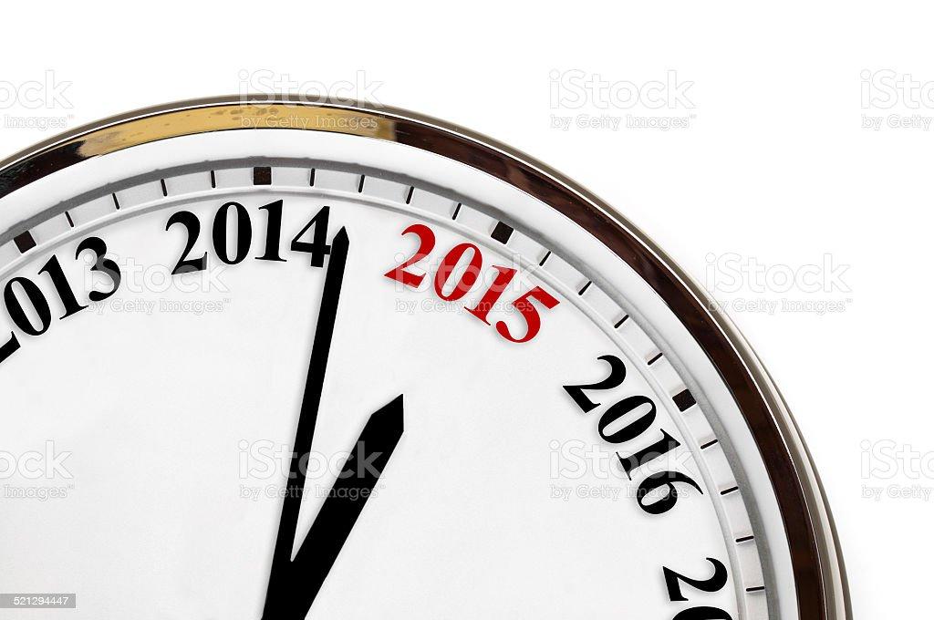 Last minutes to 2015 stock photo