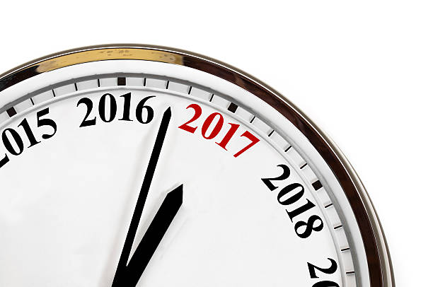 Last minutes to 2017 stock photo