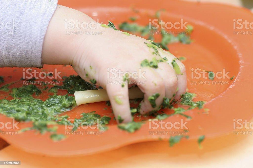 Last noodle stock photo