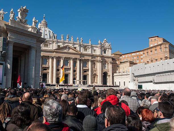 ultimo papale pubblico di papa benedetto xvi - ratzinger foto e immagini stock