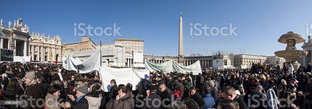 Last papal audience of Pope Benedict XVI stock photo