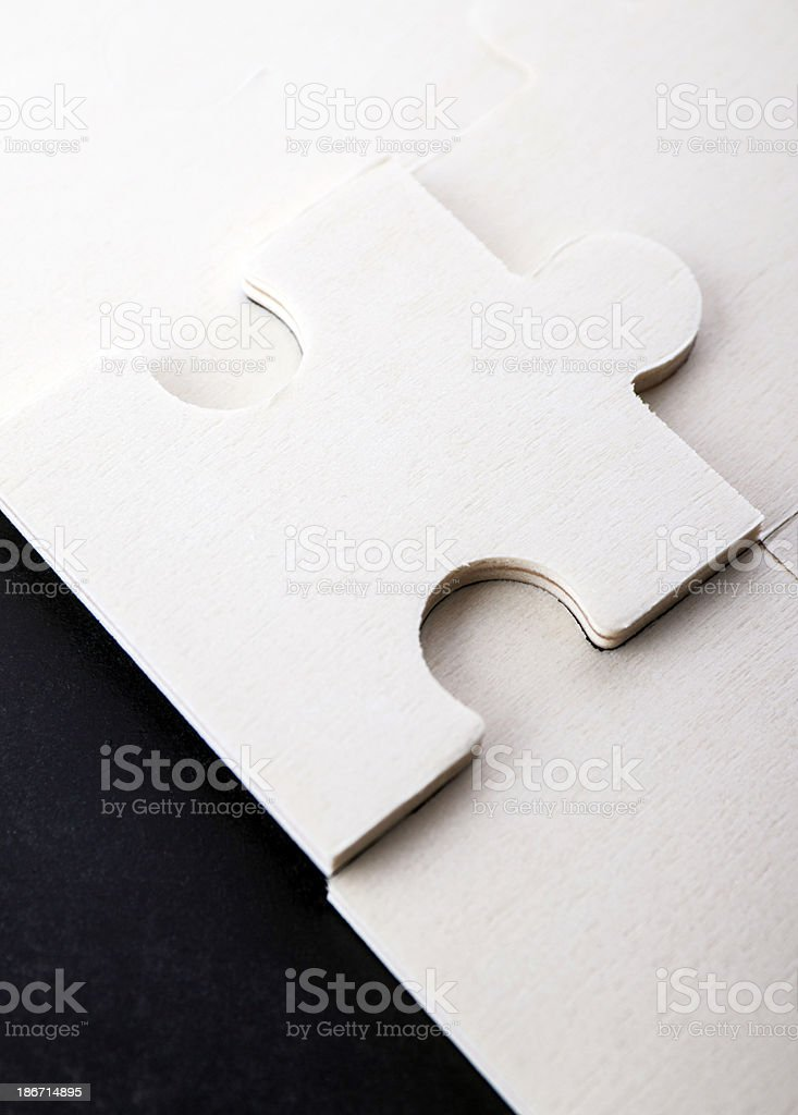 Last piece of puzzle royalty-free stock photo