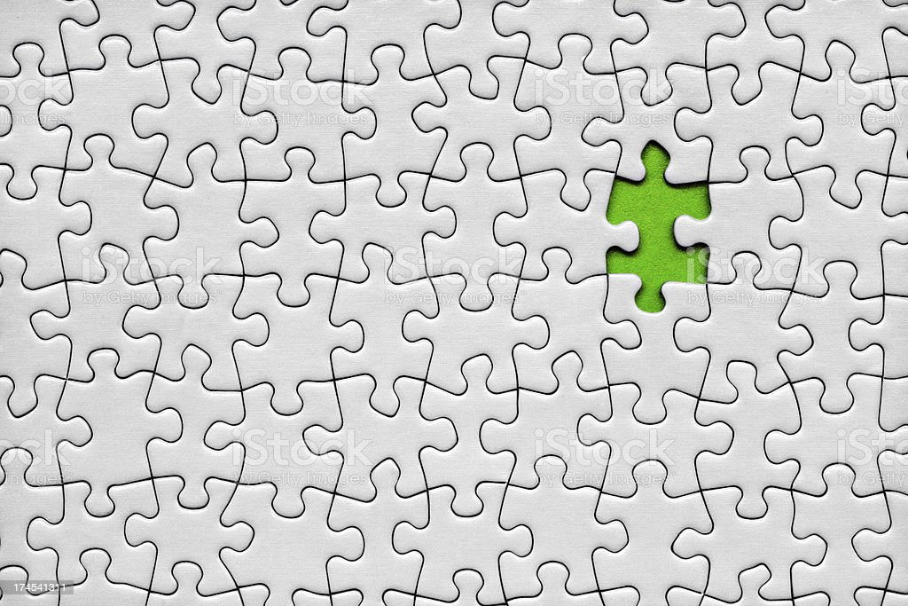 Last piece of the puzzle royalty-free stock photo