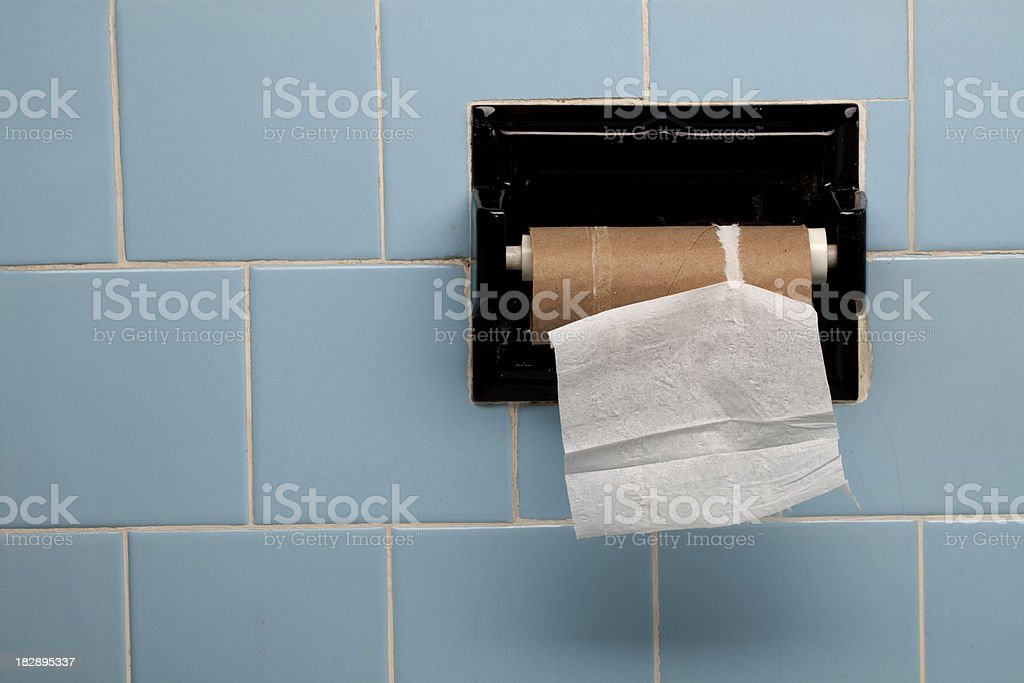 Last Piece of Toilet Paper Horizontal stock photo