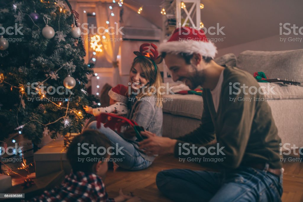 Last preparations for the winter holidays stock photo