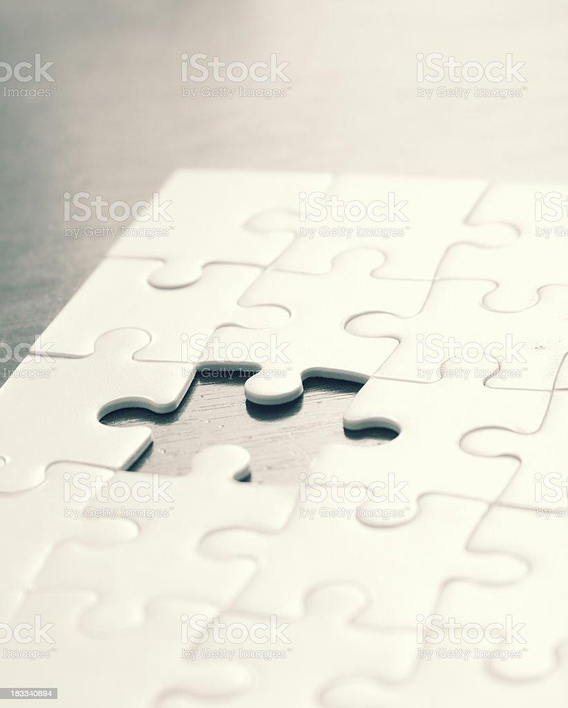 Last Puzzle Piece royalty-free stock photo