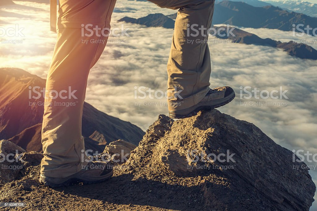 Last step to the top stock photo