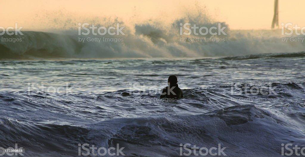 Last Wave royalty-free stock photo