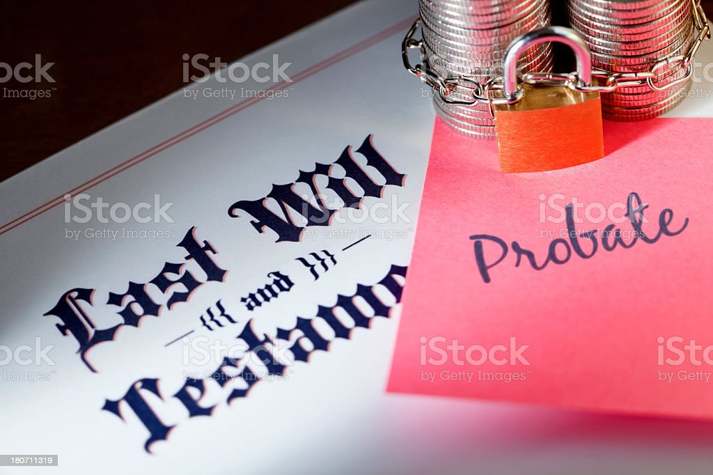 Last Will and Probate stock photo