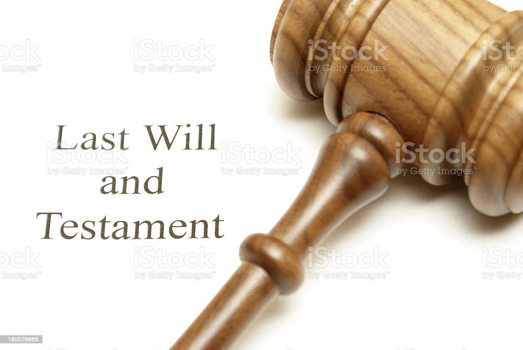 Last Will and Testament Papers stock photo