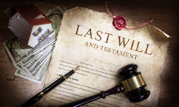 Last Will And Testament With Money And Planning Of Inheritance Last Will And Testament With Money And Planning Of Inheritance last stock pictures, royalty-free photos & images
