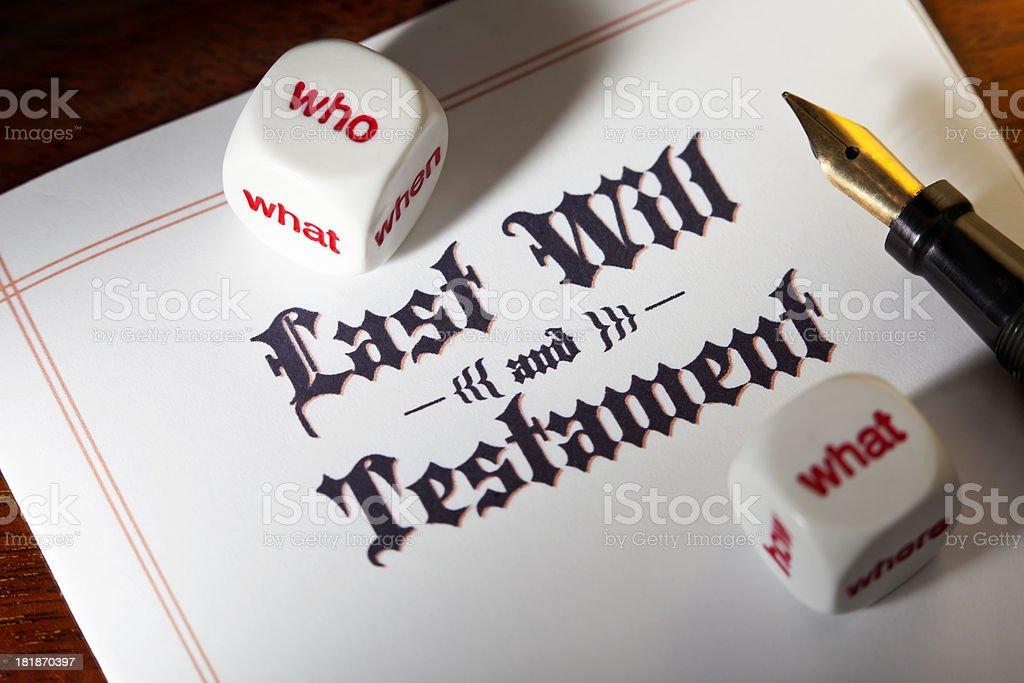 Last Will Decisions stock photo