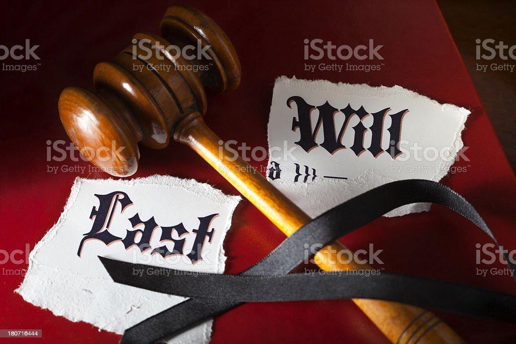 Last Will Dispute stock photo