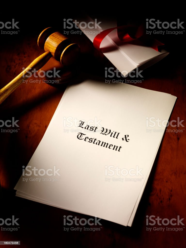 Last Will royalty-free stock photo