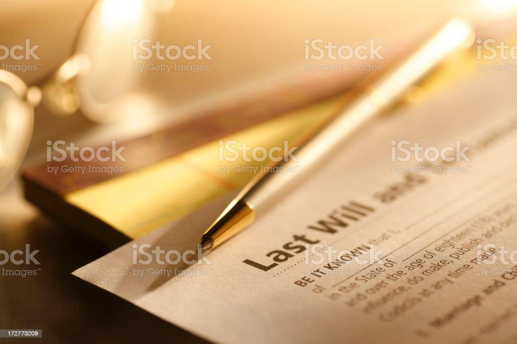 Last Will & Testament royalty-free stock photo