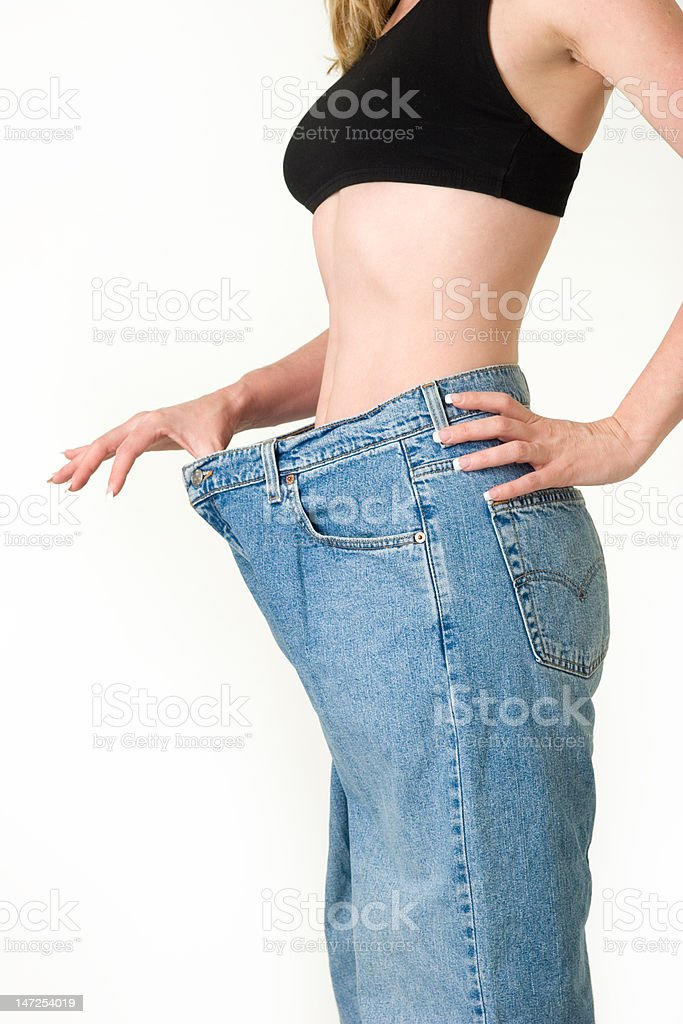 Last years jeans stock photo