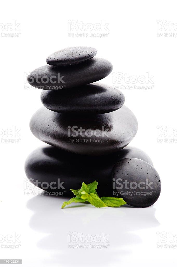 Lastone theraphy stones royalty-free stock photo