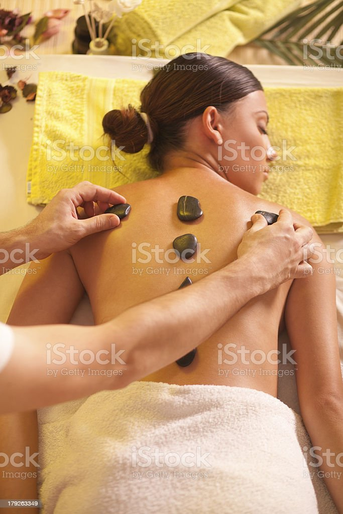 Lastone therapy. royalty-free stock photo