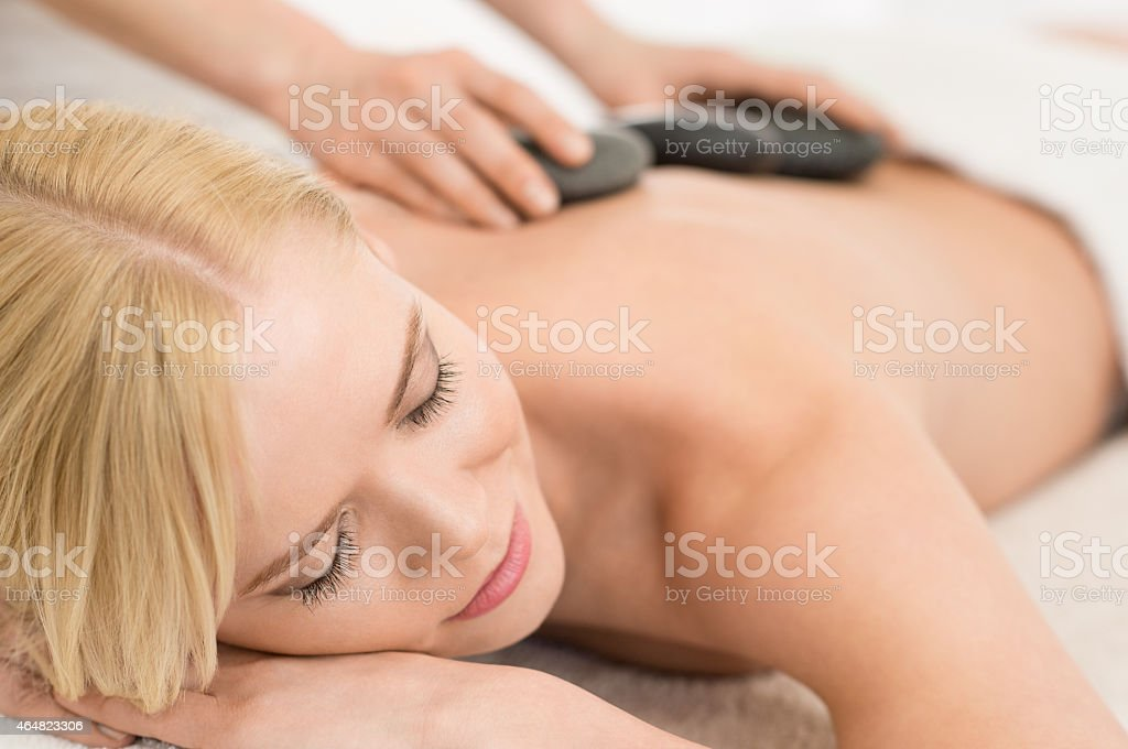 Lastone therapy stock photo
