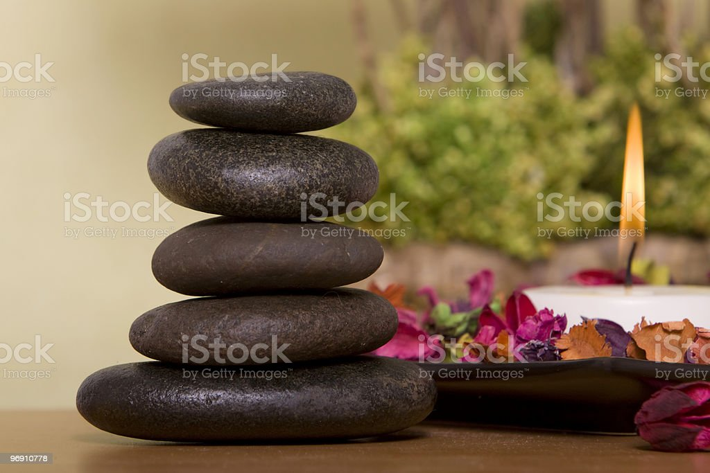 Lastone therapy royalty-free stock photo