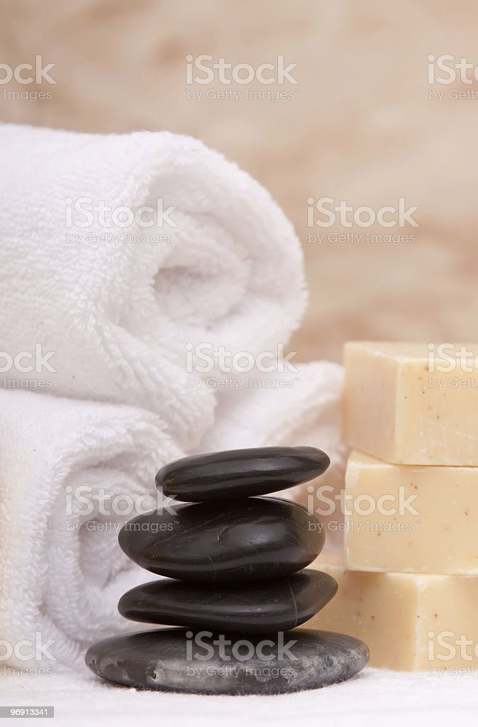 Lastone therapy rocks and spa items royalty-free stock photo