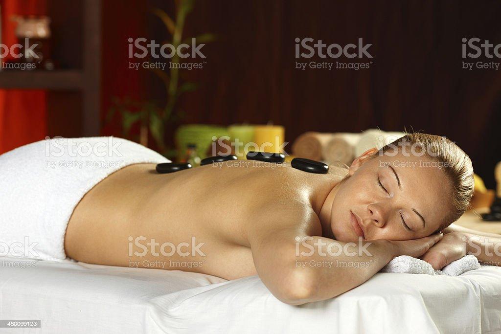 Lastone treatment stock photo