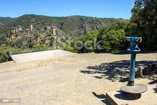 The Chateaux de Lastours (in Occitan Lastors), four so-called Cathar castles on a rocky spur above the French village of Lastours