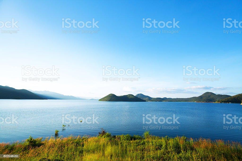 Late afternoon at Srinakarin lake stock photo