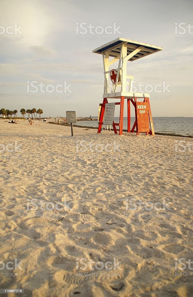 Late Afternoon At The Beach royalty-free stock photo