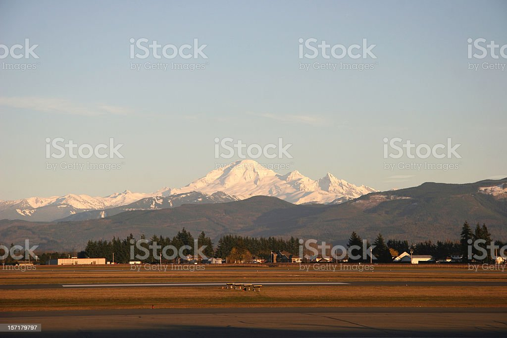 Late Afternoon at the Country Airport stock photo