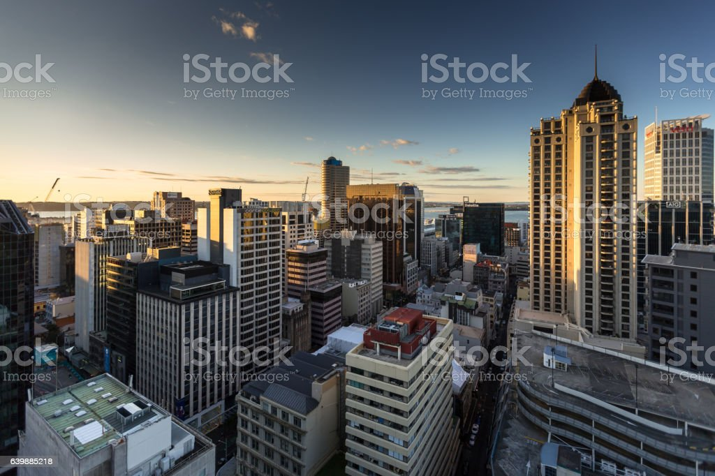 Late Afternoon Auchland Cityscape stock photo