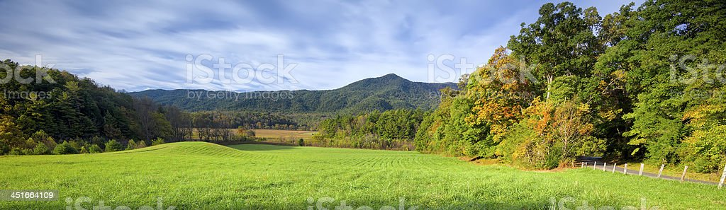Late Afternoon in Cade's Cove, TN stock photo