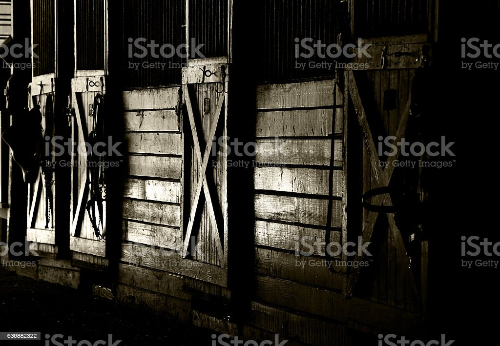 Late Afternoon Light in A Stable stock photo