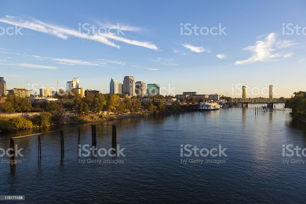Late Afternoon over Sacramento stock photo