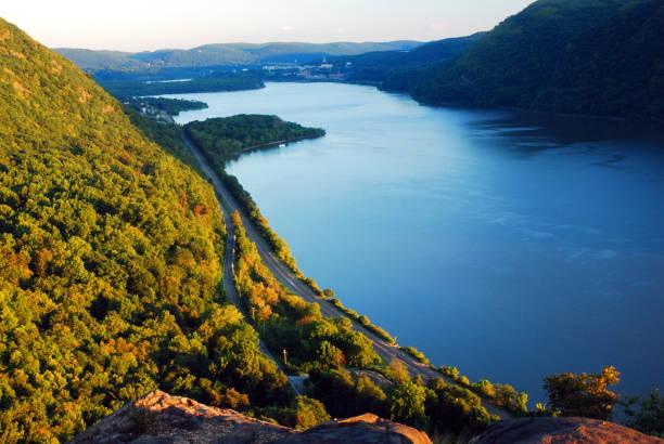 Am späten Nachmittag mit Blick auf den Hudson – Foto