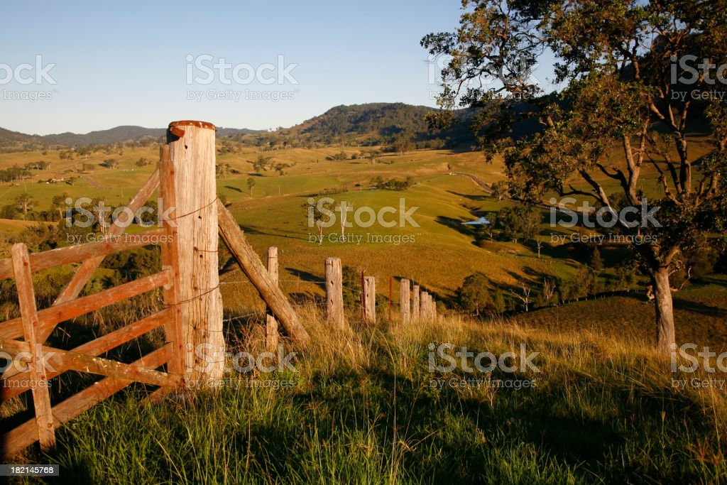 Late afternoon rural view stock photo