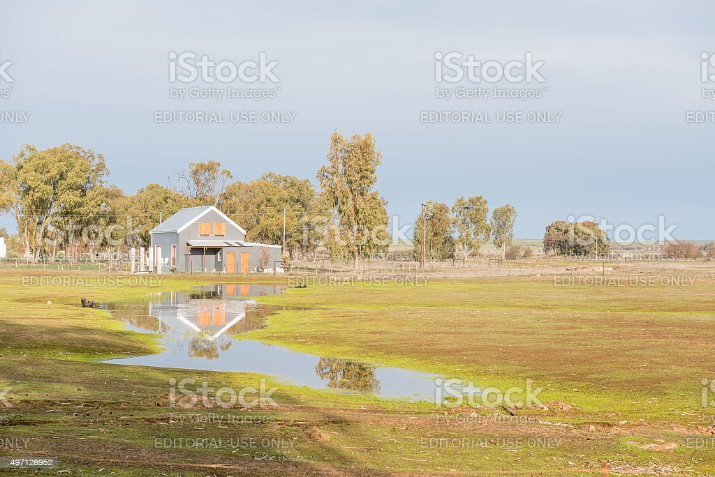 Late afternoon scene in Nieuwoudtville stock photo