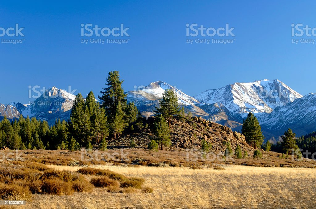 Late Afternoon Sierra View Looking East stock photo