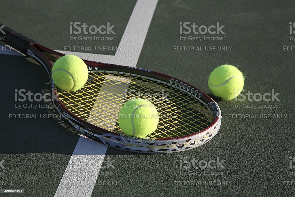 Late Afternoon Triple Threat Tennis royalty-free stock photo
