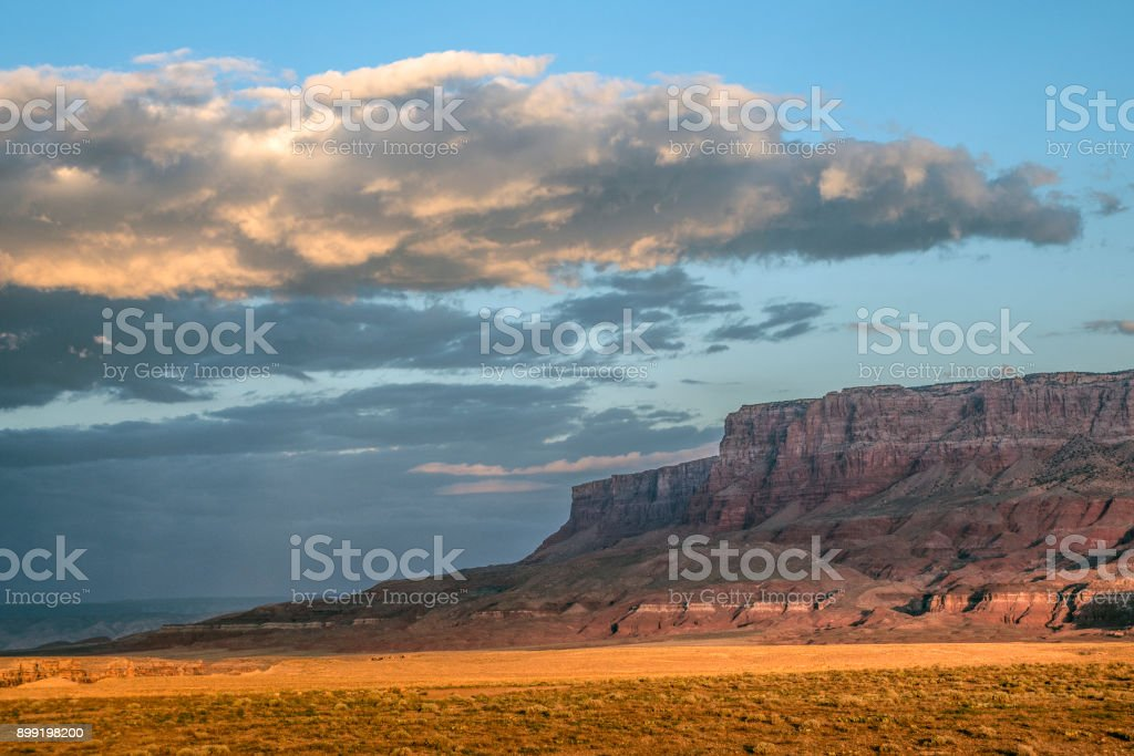 Late afternoon Vermillion Cliffs stock photo