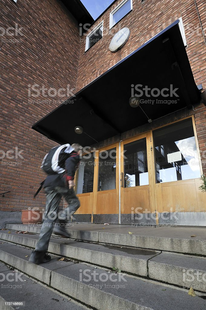 Late arrival royalty-free stock photo